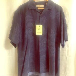 Tommy Bahama Blue Silk Short Sleeve Shirt Sz M